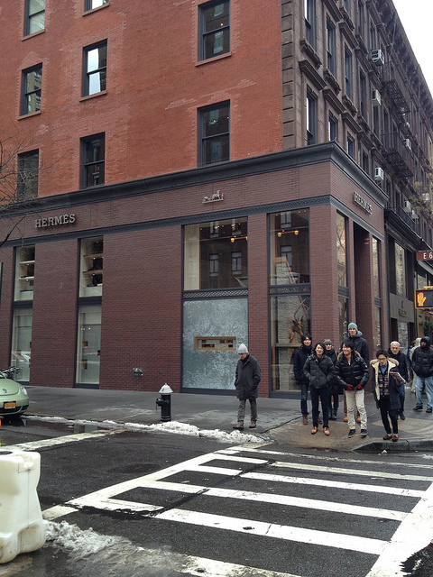 Hermès mens shop on Madison Avenue