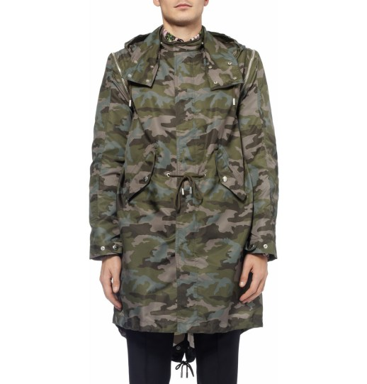Givenchy lightweight parka in contemporary camo