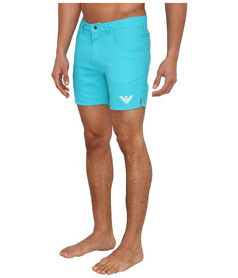 EA turquoise shorts that look like PANTS