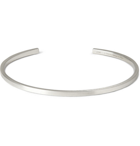 Le Gramme 7g recycled sterling silver cuff, made in France