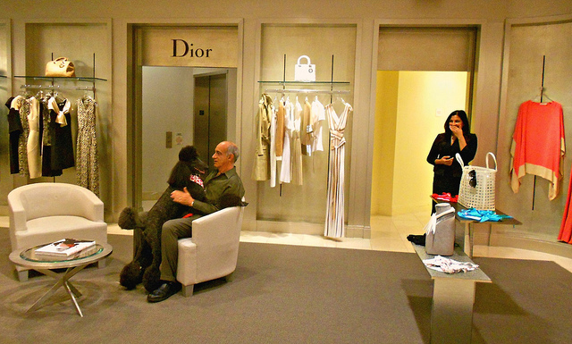 Saks, Dior, and poodle by Midnight and me on Flickr