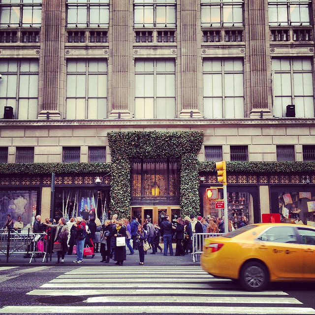 The flagship store on Fifth Avenue in Manhattan, across from Rockefeller Center