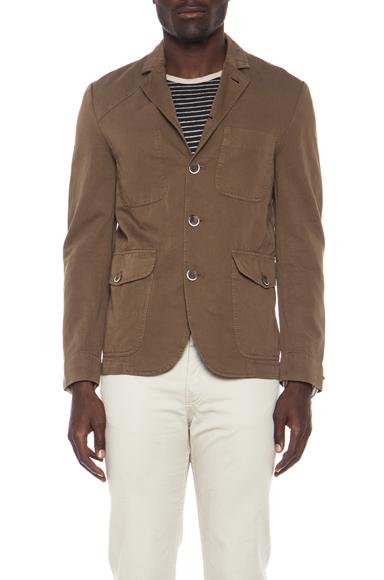 Barena Cotton-Blend Field Coat in Noce at Elyse Walker