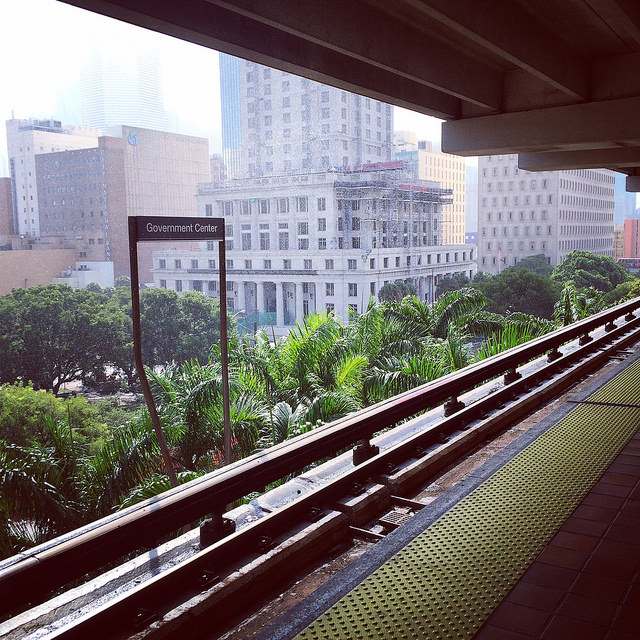 Miami has Florida's only real multi-modal transportation system - with the people mover downtown, metro rail, bus, and access to Amtrak & Tri-Rail regional rail