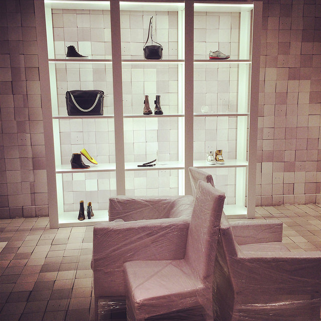 Maison Martin Margiela is just one of the many new stores located street side on NE 40th in the Design District of Miami