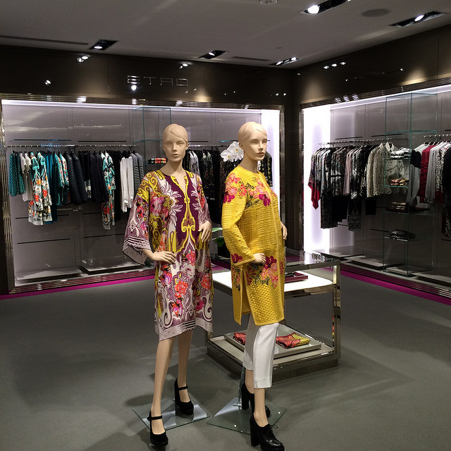 Etro hard vendor on the second floor of Saks Sarasota