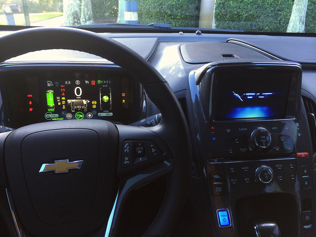 Dashboard of the 2014 Chevy Volt