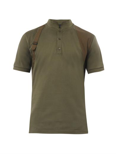 Alexander McQueen harness polo shirt in olive, FW14