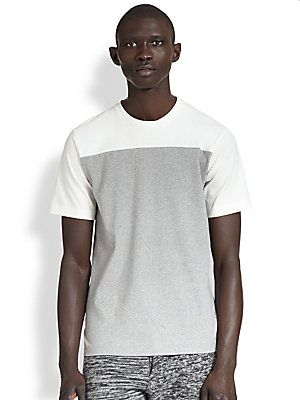 Marni gray and white colorblock t-shirt