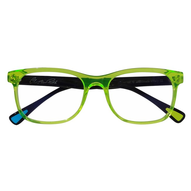 Christian Roth Optical Eric's Own in Fluo Green with black temples
