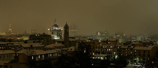 Foggy night over Milano by levino de fidelibus on Flickr