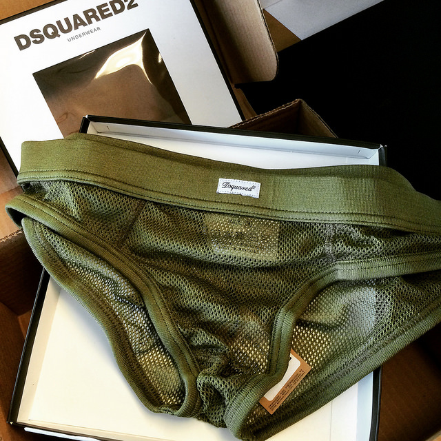 Dsquared2 mesh underwear. Necessary, no? Fun, a little extravagant? Yes.