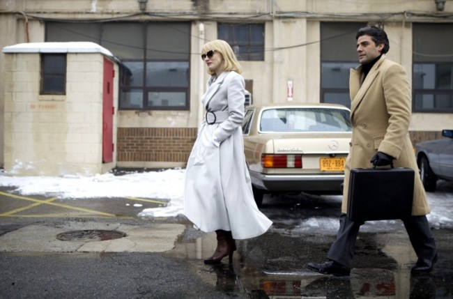 A-Most-Violent-Year-Costuming-Clothes-and-Fashion-Jessica-Chastain-Armani-coat-Oscar-Isaac-camel-coat