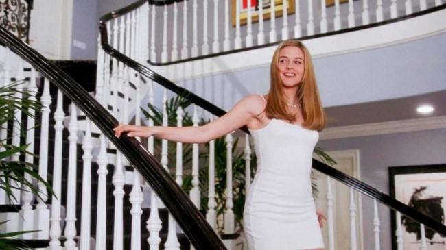 Cher Horowitz dons the quintessential white Calvin Klein minidress in all white