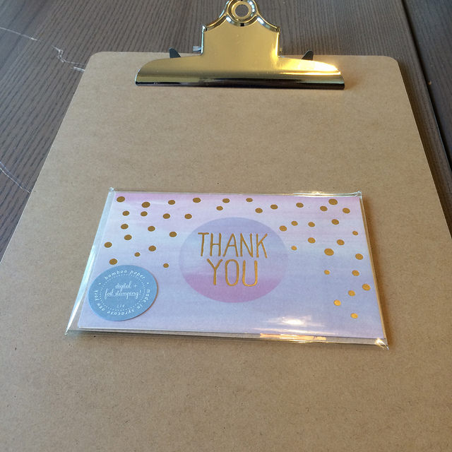 Thank You card by Smock Stationery