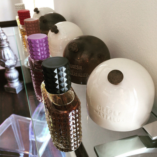 Maria L Perfumes at Uncommon Finds, with porcelain sniffers