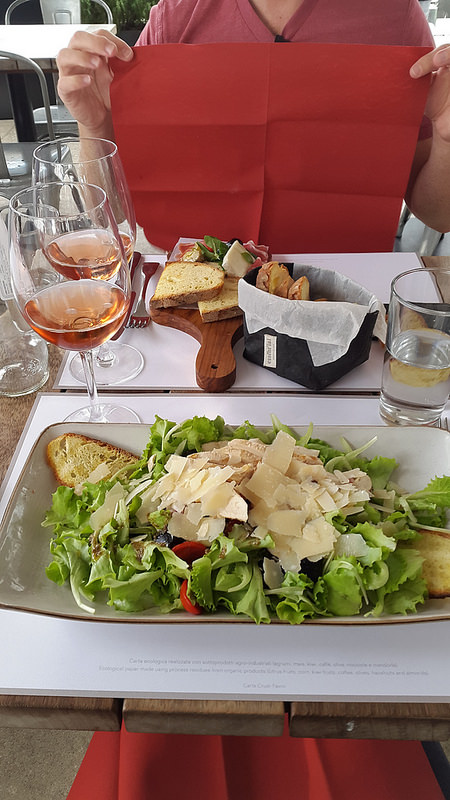 Lunch on the rooftop of La Rinascente