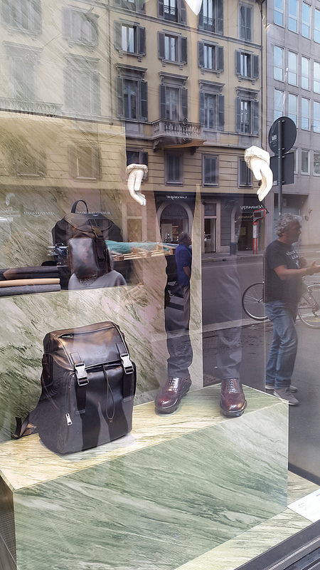 Prada Milano men's window, Corso Venezia