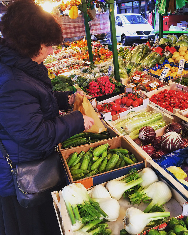 Vegetable shopping on Portobello Road