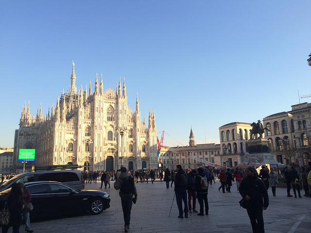 The Duomo on a clear fall day