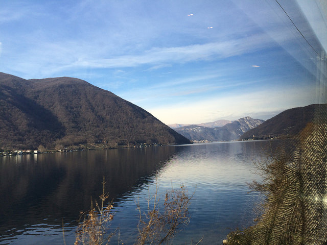 Passing the famous lakes of Northern Italy