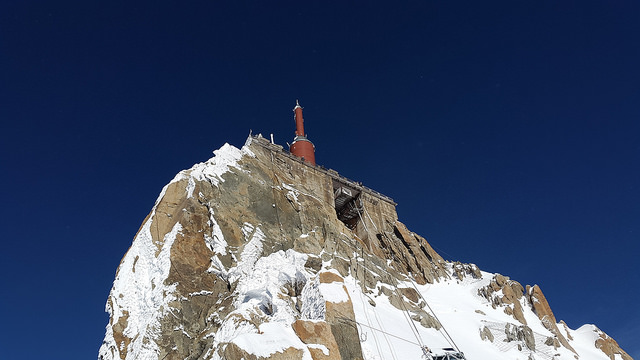 The summit(?) of Aiguille du Midi in Chamonix, France (Mont Blanc)