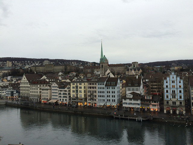 Historic Zurich along the Limmat River