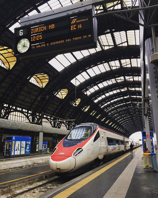 Eurocity 16 train from Milano Centrale to Zurich HB