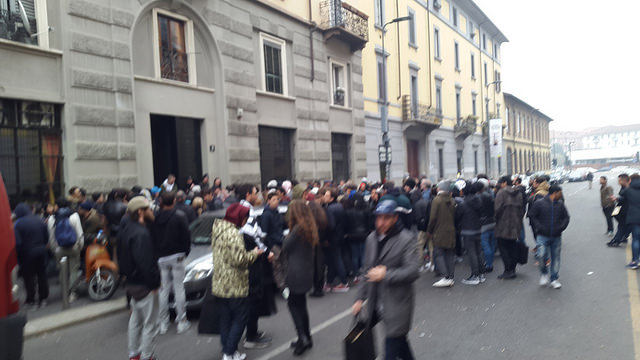 the queue outside Antonioli when they released Yeezy Season 1. Shaking my head.