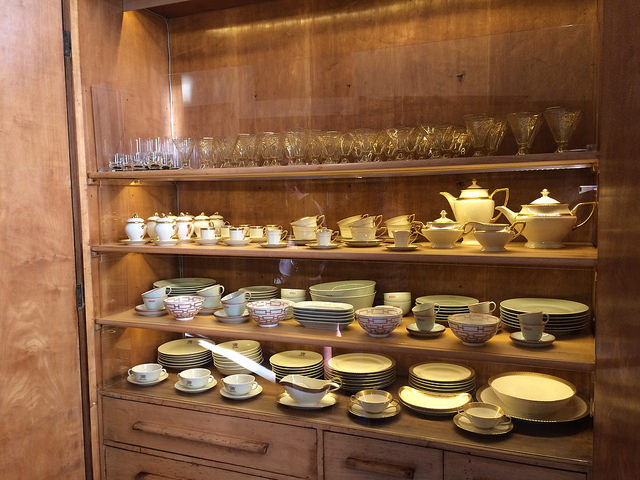 China cabinet at Villa Necchi