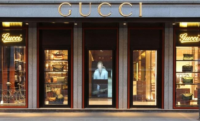 Gucci's mens store in Brera, Milano