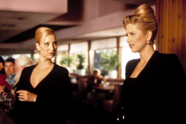 Romy and Michelle do businesswoman style