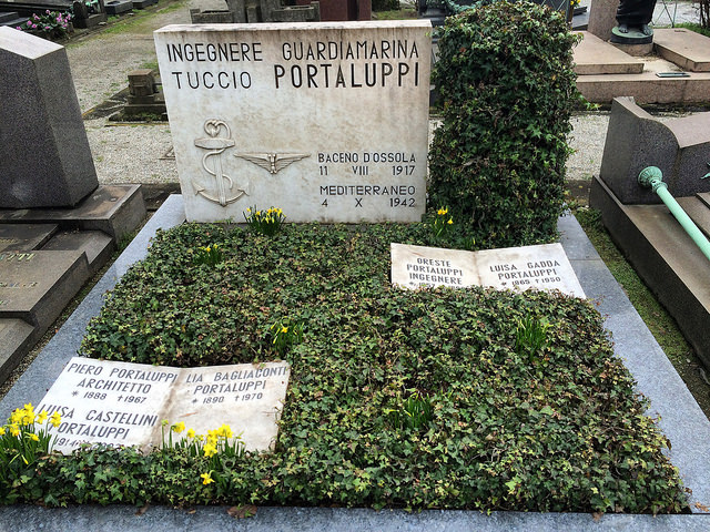 Here lies Portaluppi, famous architect of Villa Necchi and others