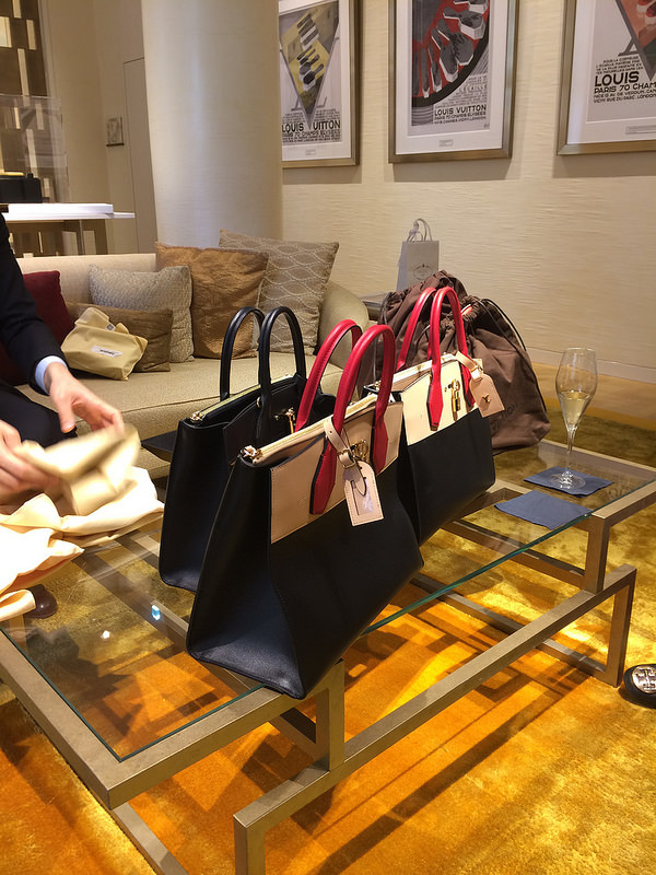 Comparing sizes of the Steamer bag, new in 2015 and a nod to Vuitton's DNA of journeying
