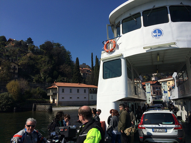 The ferry to Bellagio