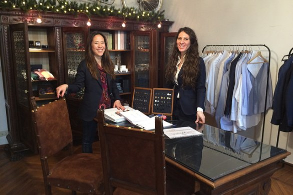 Naomi and Alessandra of SATOR Milano Bespoke