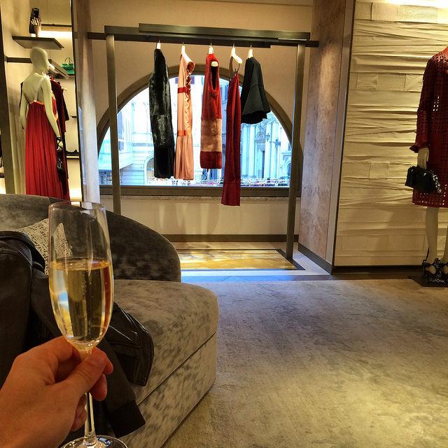 The second floor women's ready-to-wear salon at Palazzo Fendi