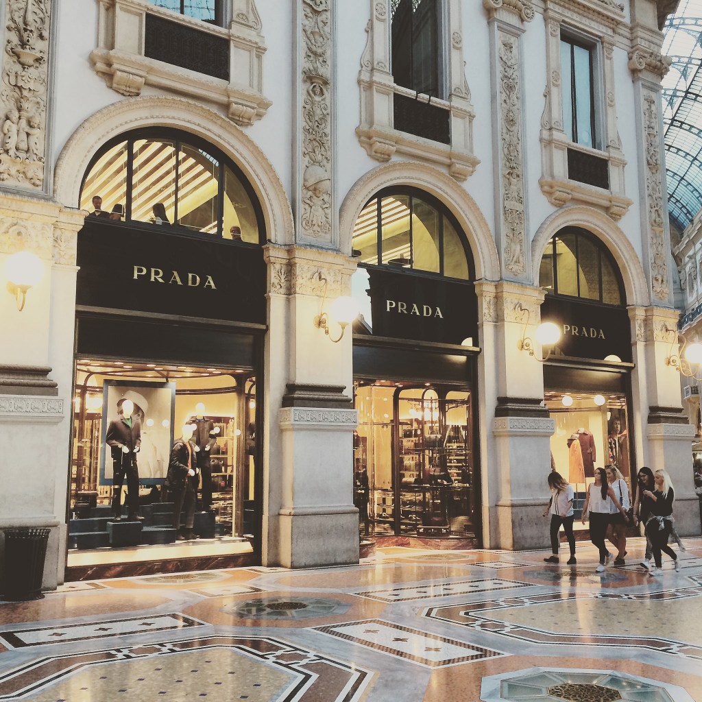 Prada and Marchesi in Galleria Vittorio Emanuele II