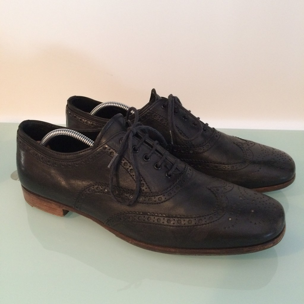 Prada brogues from Bivio, now for sale on Vestiaire Collective