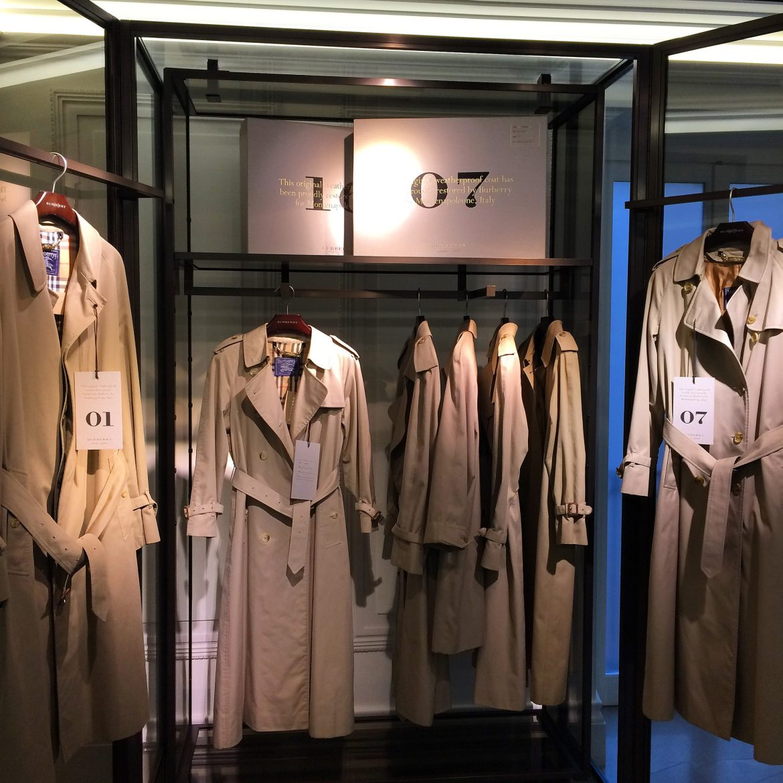 Burberry Montenapoleone - vintage trench coats
