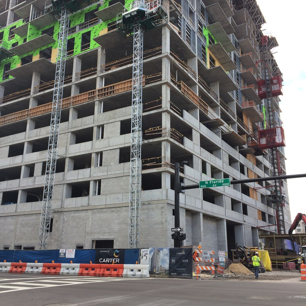 Nine 15 under construction at 915 North Florida Avenue in Downtown Tampa