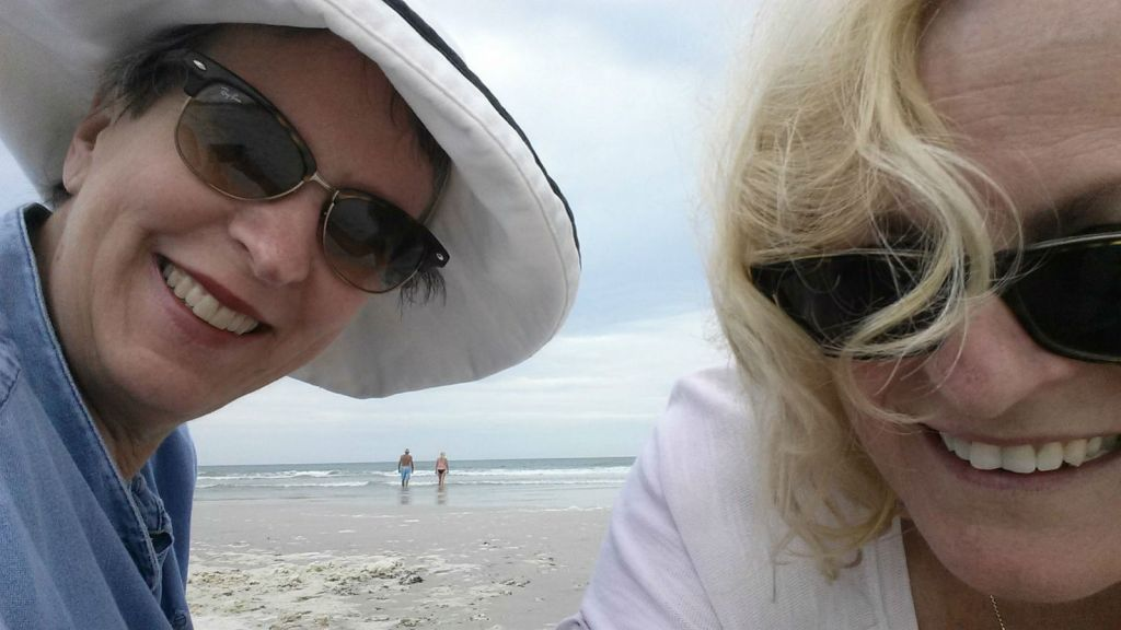 Mom and Donna at Crescent Beach