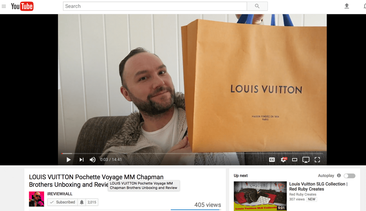 LOUIS VUITTON Pochette Voyage MM Chapman Brothers Unboxing and Review by iREVIEWitALL on YouTube