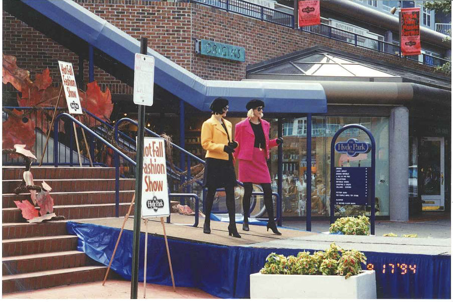 Fall fashions at Hyde Park Village, 1994