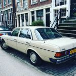 Mercedes W123 Sedan in cream white