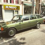 Mercedes W123 Estate in sage green