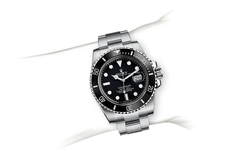 Rolex Submariner Date with black enamel bezel