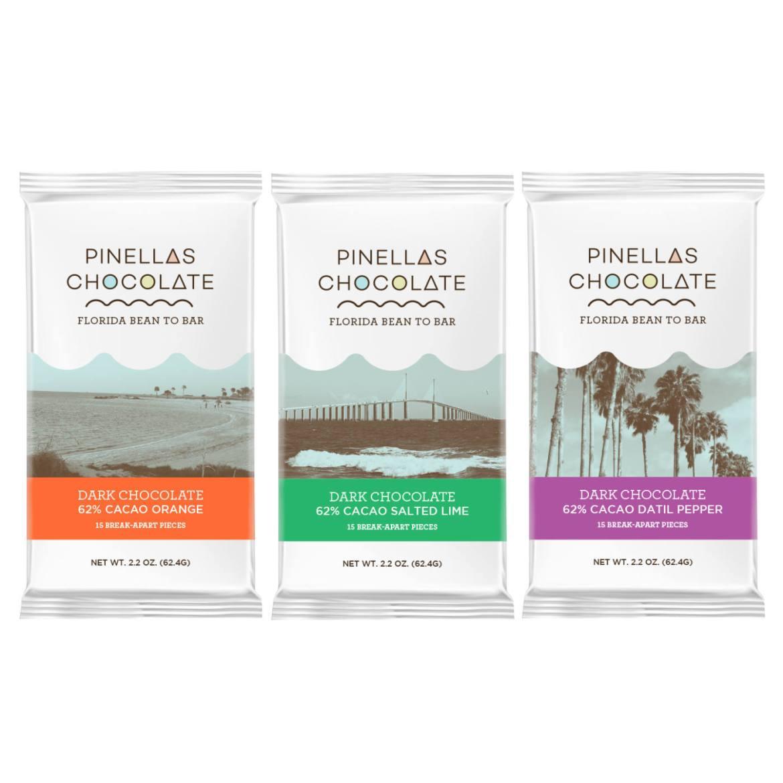 Pinellas Chocolates' Florida Bar Set