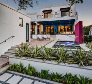 2919 West Alline by ROJO Architecture, rear of house/pool