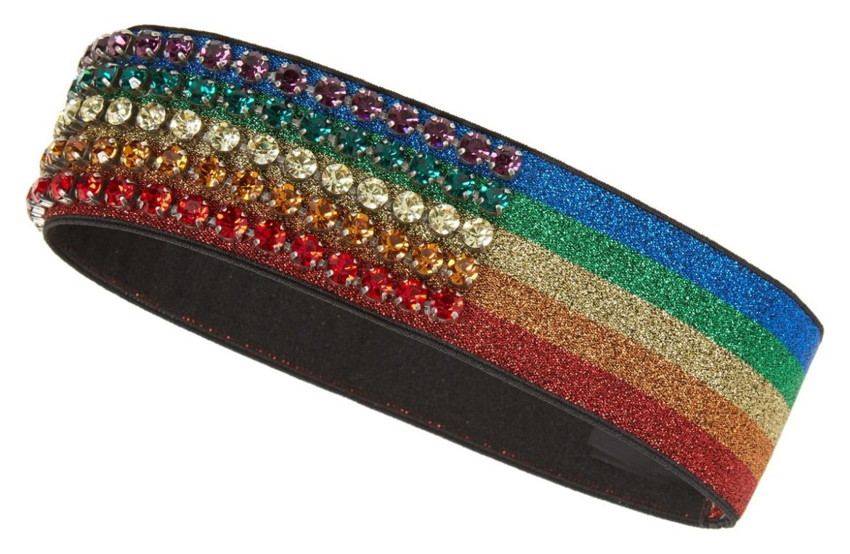 Gucci Webby rainbow crystal headband at Nordstrom